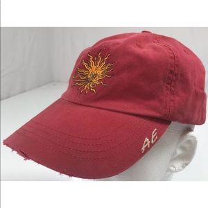 AE performance sun embroidered baseball hat red